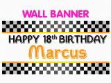 Happy 18th Birthday Facebook Banner Happy 18th Birthday Banner Personalized Party Race Car