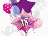 Happy 18th Birthday Flowers 7 Pc Happy 18th Birthday Pink Star Burst Balloon Bouquet