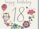 Happy 18th Birthday Flowers Birthday Cards Ages 18 100 Collection Karenza Paperie