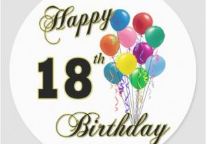 Happy 18th Birthday Gifts for Him Happy 18th Birthday Gifts Classic Round Sticker Zazzle
