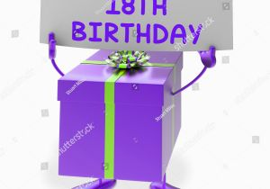Happy 18th Birthday Gifts for Him Happy 18th Birthday Sign Gift Showing Stock Illustration