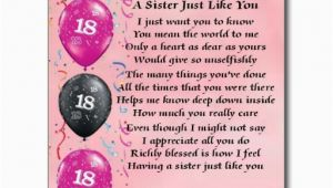 Happy 18th Birthday Quotes for Sister 18th Birthday Poems Quotes Quotesgram