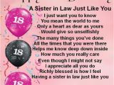 Happy 18th Birthday Quotes for Sister 24 Best Images About Sister In Law Gifts On Pinterest