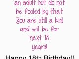 Happy 18th Birthday son Quotes 18th Birthday Quotes for Girls Quotesgram