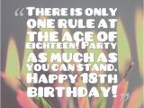 Happy 18th Birthday son Quotes Eighteenth Birthday Quotes Quotesgram