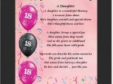 Happy 18th Birthday to My Daughter Quotes Personalised Mounted Poem Print 18th Birthday Daughter