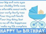 Happy 1st Birthday Baby Boy Quotes 1st Birthday Poems Happy First Birthday Poems