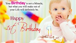 Happy 1st Birthday Baby Girl Quotes Happy 1st Birthday Quotes for New Born Baby Girl and Baby Boy