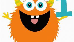 Happy 1st Birthday Banner Clipart Monster Birthday Clip Art by Shelleyspaperstudio On Etsy