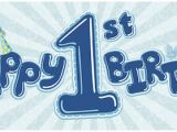 Happy 1st Birthday Banner Clipart Products Partymoods