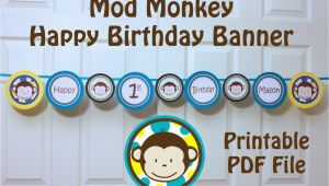 Happy 1st Birthday Banner Tesco Mod Monkey Banner Happy 1st Birthday Banner with Name