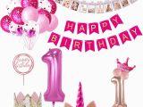 Happy 1st Birthday Banner Tesco Weigao First Birthday Banner Garlands One Year Old First