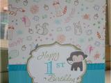 Happy 1st Birthday Boy Card Happy 1st Birthday Boy Handmade Card Stacey C Handmade