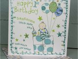 Happy 1st Birthday Boy Card Happy 1st Birthday Card for A Boy by Molly Mae