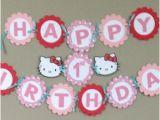 Happy 1st Birthday Hello Kitty Banner Popular Items for Happy 1st Birthday On Etsy