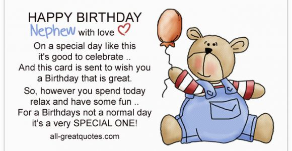 Happy 1st Birthday to My Nephew Quotes Write Happy Birthday Nephew Wishes In A Card