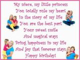 Happy 1st Birthday to My Niece Quotes Happy Birthday Wishes Poems and Quotes for A Niece