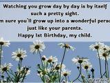 Happy 1st Birthday to My son Quotes Happy 1st Birthday Boy Quotes Quotesgram
