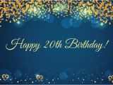Happy 20th Birthday Cards 20th Birthday Wishes Quotes for their Special Day