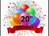 Happy 20th Birthday Cards 40 20th Birthday Wishes