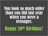 Happy 20th Birthday Quotes Funny 20th Birthday Wishes What to Write In A 20th Birthday Card