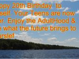 Happy 20th Birthday to Me Quotes 20th Birthday Quotes for Teens Quotesgram
