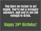 Happy 20th Birthday to Me Quotes 20th Birthday Wishes to Write In A Card Holidappy