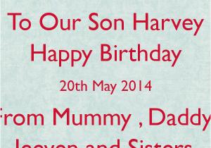 Happy 20th Birthday To Me Quotes Son Quotesgram