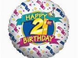 Happy 21st Birthday Balloon Banner Amazon Com Happy 21st Birthday Banners and Stars 18