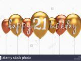 Happy 21st Birthday Balloon Banner Happy 21st Birthday Gold Balloon Greeting Background 3d