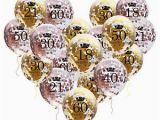 Happy 21st Birthday Balloon Banner Rose Gold 18 21st 30 40 50 Happy Birthday Confetti