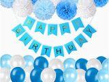 Happy 21st Birthday Banner Blue 1st Birthday Decorations Amazon Co Uk