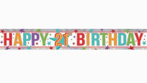 Happy 21st Birthday Banner Clip Art Free Multi Colour Happy 21st Birthday Holographic Foil Banners
