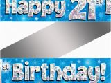 Happy 21st Birthday Banner Free Holographic Happy 21st Birthday Banner Buy Helium