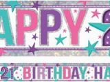 Happy 21st Birthday Banner Images 21st Birthday Decorations Banners 21st Birthday Party