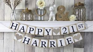 Happy 21st Birthday Banners 21st Birthday Banner Happy Birthday Banner Personalized