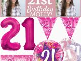 Happy 21st Birthday Banners Pink Age 21 Female Happy 21st Birthday Banner Confetti