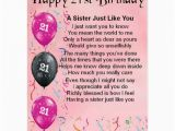 Happy 21st Birthday Sister Quotes Birthday Poems for My Daughter Turning 21 Just B Cause