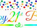 Happy 21st Birthday son Banner Cakesupplyshop Item 021rpb Happy 21st Birthdayrainbow Wall