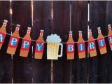 Happy 21st Birthday son Banner Happy 21st Birthday Banner Beer Birthday by