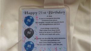 Happy 21st Birthday to My son Quotes Personalised Coaster son Poem 21st Birthday Free