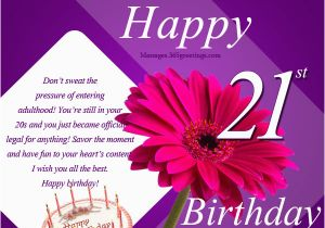 Happy 21th Birthday Quotes 21st Birthday Wishes Messages and Greetings