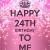 Happy 24th Birthday Quotes Happy 24th Birthday Quotes Quotesgram