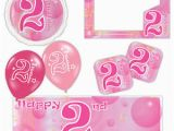 Happy 2nd Birthday Banner Boy Pink Girl Happy 2nd Birthday Bubbles Banners Decorations