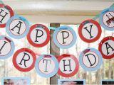 Happy 2nd Birthday Banner Boy Red Wagon Printable Happy Birthday Banner Little Red