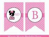 Happy 2nd Birthday Banner Girl Minnie Mouse Birthday Banner Minnie Mouse Banner Minnie