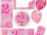 Happy 2nd Birthday Banner Girl Pink Girl Happy 2nd Birthday Bubbles Banners Decorations