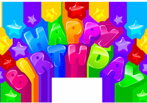Happy 2nd Birthday Banners Happy Birthday Decor with Stars Png Clip Art Image