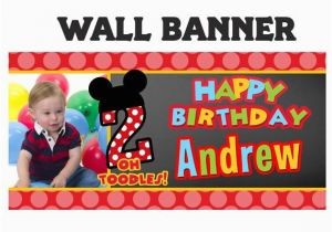 Happy 2nd Birthday Banners Items Similar to Little Mouse Birthday Banner