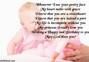 Happy 2nd Birthday Daughter Quotes Whenever I See Your Pretty Face Wish